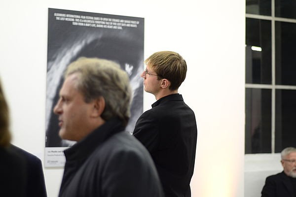 20 Private time for team member Max Bodenstein at Filmfest Exhibition