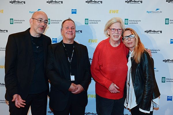 02 Festival Director Torsten Neumann with Festival Security Edgar Ramke Wizards of OL star Beate and actress Deborah Kara Unger at th