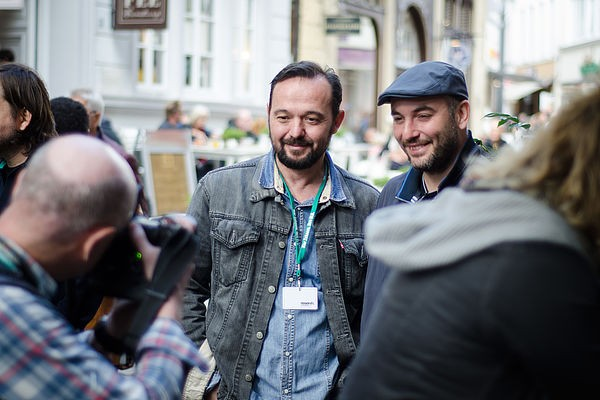 06 Director Kastriot Abdyli in Oldenburg for World Premiere of his debut The Return Kthimi with director Vardan Tozija at Filmfest Pael