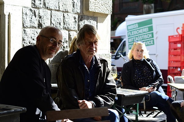 07 Festival Director Torsten Neumann 2018 Honoree Bruce Robinson King of Beasts producer Salome Breziner taking in the inner City at