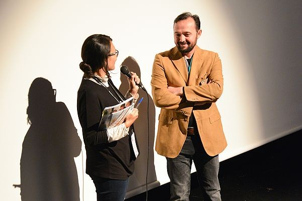 05 Cinema Host Milica Vlajkovic in QA with director Kastriot Abdyli after World Premiere of The Return Kthimi